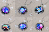 antique glass jewelry - Women Men necklace Galaxy Nebula Space Antique Silver Glass Dome Pendant Necklace Friendship BFF Necklace Astronomy Geek Jewelry