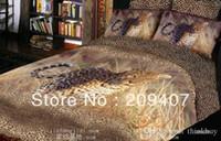 Wholesale Luxury Oil Painting Cotton D King Size Animal leopard Bedding Bed Set Duvet Covers