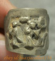 belle fingers - New Old Collect Tibet Tibetan Miao Silver Woman Belle Statue Circlet Finger Ring