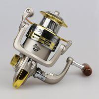 Cheap Telescopic 8BB Bearing Balls Spinning Fishing Reels Pesca 5.5:1 GS1000 -7000 Metal Carretilha Pesca Baitcasting Reel Fishing Tackle HW3004