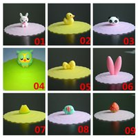Wholesale Sweet Silicone Cup - New Arrivals Drinkware Magical Cup Lid Leakproof Multi-functional Cover Sweet Cute Cartoon Silicone JA34 Free Shipping
