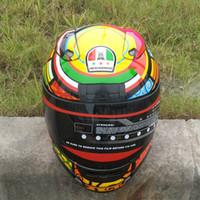 Wholesale New arrival Brand malushun Valentino Rossi motorcycle helmet MOTO full face helmet Kart racing motociclistas capacete DOT M XXL