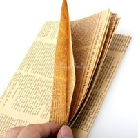 Wholesale Newspaper DIY Christmas Gift Wrapping Paper Packaging Favors Gift Vintage Double Sided Kraft Paper PTSP
