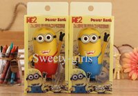 cell phone battery pack - 30pcs portable battery charger mah cartoon despicable me powerbank external battery pack for cell phone