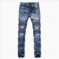 Wholesale 100 bike with a brand designer man jeans slim jeans balmain mainly for men s wear jeans brand