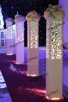 Wholesale 4pcs cm Luxury Wedding Carved Pillar Half Carving Design Wedding Road Lead Stand With Led