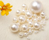 Wholesale 8 mm imitation Pearls Beads straight holes earrings necklace choker simulated pearl bracelet jewelry making decorate cell mobile art kit