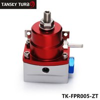 Wholesale TANSKY high performance AE Style Injected Bypas Fuel Pressure Regulator PSI Dadjustable Red Sliver AN6 AN6 TK FPR005 ZT