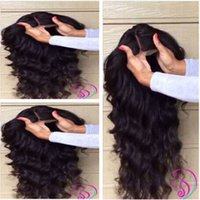 Wholesale 2015 New Glueless full lace human hair wigs body wave no shedding malaysian human hair front lace wigs density with natural hair line