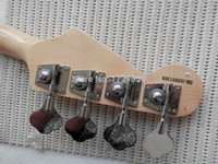 Wholesale high quality Top Musical instruments natural Wood color strings bass Guitar Real photos
