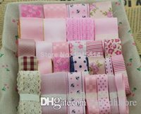 Cheap hot sale 28 meter pink ribbon set for handmade hair accessory and bow material embellishment 28 meters mix