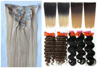 Wholesale Clip In On g Bags Indian Remy Human Hair Extensions Yaki Purple Black Brown Blonde Piano Highlight Mixed Ombre Any Color