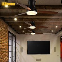 beige ceiling fan - American restaurant personality Creative ceiling fan industry contracted details of ceiling fans wood door light wind restoring ancient ways