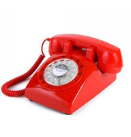 Wholesale Christmas Gift Vintage s STYLE ROTARY Retro Old Fashioned Rotary Dial Home Telephone Red Black Pink Color