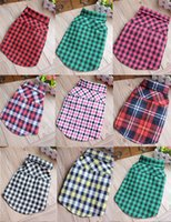 Wholesale 8 colors dog clothes winter England plaid dog apparel pet cotton dog supplies bulk price