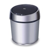 trash can - US Stock HL L Sensor Dustbin Induction Trash Can Automatic trash Touch less Stainless Steel Trash Can