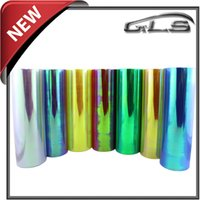 Wholesale 30cm m Glossy Chameleon Headlights Films With Layers For Rolls