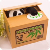 Wholesale Brand New itazura coin bank panda children s money boxes gift steal money cat dog monkey mouse piggy bank