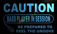 bass commercial - LN542 TM Caution Bass Player in Session Neon Light Sign Advertising led panel jpg