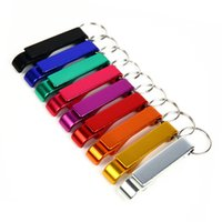 Wholesale New style Portable Aluminum Alloy Stainless Steel Beer Wine Bottle opener with keyChain in design For party gift Multifunction Tool
