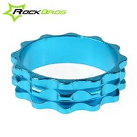 Wholesale RockBros quot mm mm Aluminium AL6061 T6 Bike Bicycle Headest Spacer Blue Golden Silver White Red Black Colors