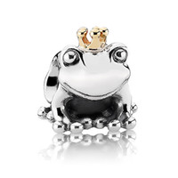 Wholesale 925 sterling Silver charms frog prince Crystal beads for women Bracelets necklaces bangles silver jewelry Making X335