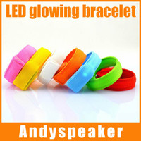 Wholesale 3pcs Party Glowing Bracelet LED lights Flash Bracelet Wrist Ring Nocturnal Warnings Ring Running Gear Glowing Armband