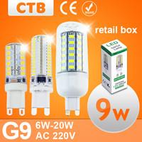 Wholesale G9 LED Lamp Corn Bulb SMD Bombillas Led Lampada Led v W Lamparas W V V W W W W W W G9 Led Lamp
