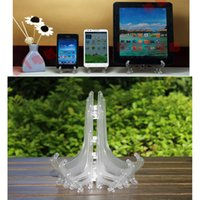 plastic plate - 50pcs Factory Price Inch Tall Transparent Frosted Plastic Display Stand Easels or Plate Holders Display Dinner Plates Pictures Phone Ph