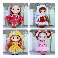 Wholesale 6pcs set cm high Confused doll gift mini cute ddgirl dolls Fashion Popular dolls plastic girl gift dolls toys