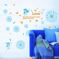 art combines - Wall stickers home decoration Professional supplier of memory Combined blooming blue hued fashion DIY wall stickers wall stickers AY6019C