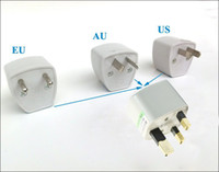 Wholesale Travel Wall AC Power Adapter Portable Safety guarantee AU US EU to UK plug adapter switch