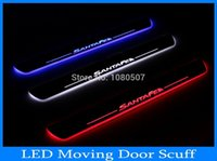 hyundai ix45 - LED MOVING DOOR SILL PALTE for HYUNDAI IX45 SANTA FE LED MOVING DOOR SCUFF led door sill plate