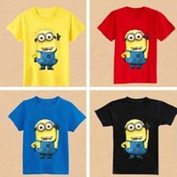 Wholesale Baby Boys Girls T Shirt Children Clothing Cartoon Despicable Me Minions Clothes children s clothing t shirts kids clothes wear