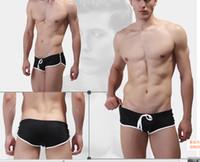wang - New Brand Wang Jiang Men s Swim Shorts Snap Button Swim Trunks Swimwear BL1PJ