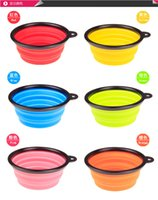 Wholesale Silicone Folding Pet Bowl Feeder Crative Pet Dog Cat Bowl Feeder