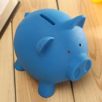 bank money supply - Cute Vinyl Pig Toy Saving Coins Money Cash Coin Collection Box Piggy Bank Kid Children Birthday Gift Supplies