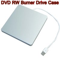 Wholesale Super Slim USB Slot in DVD RW External Caddy Case Enclosure DVD Rom RW Burner Drive Case SATA for Apple Macbook