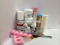 acrylic nails simple - Simple New Pro Nail Art Tips Kit DIY Acrylic Nail Liquid Powder Nail Art Tool Set set dropshipping