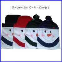 Wholesale Cute Snowman Dinner Chair Covers For Indoor Christmas Decorations