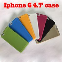 Cheap DHL free shipping low price 7 color optional beautiful appearance cell phone cases for Apple Iphone 6 4.7inch case 500pcs lot