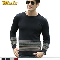 asian winter clothes - color retro sweater round neck men s knitwear knitted sweater polo Sping autumn winter asian male fashion urban clothing