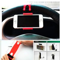 Wholesale New Universal Multi functional Mobile Holder Car Steering Wheel Phone Socket Holder Stand For iPhone Mobile Phone GPS