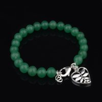 Wholesale with tracking number Top Sale Silver Bracelet Green Jade bracelet Silver Jewelry