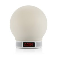 Cheap Portable Wireless Bluetooth Speaker LED Lamp Speaker Support TF Card USB Charging Hands-free Music Player Remote Control V1665