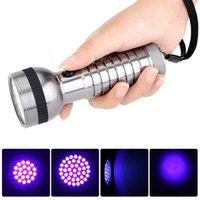Cheap Lanterna 395-410nm Purple Light 41 CREE UV Flashlight Detect Fake Money Jewelry UV Ultraviolet Flash Torch Lamp LED Linternas