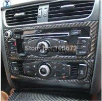 auto dashboard covers - A4 B8 Q5 Carbon Fiber Car CD Control Panel trim Auto interior dashboard dash kit cover for Auto