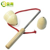 Wholesale handmade wooden whipping Gyro Gyro Gyro wooden toy traditional fitness and entertainment For gift