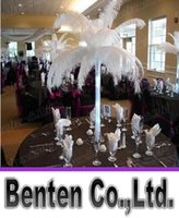 Wholesale natural White Ostrich Feather Plume CM inch Wedding Decoration Party Diy Table Decoration price LLFA2905F