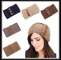 Wholesale Fashion Bohemian Girls Headwrap Ear Warmer Crochet Women Headband Knit Hairband